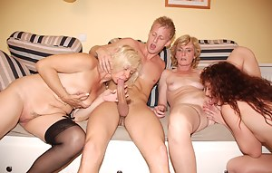 Mature Foursome Porn Pictures